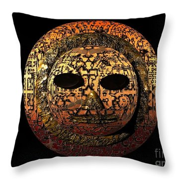 African Mask Series 1 Throw Pillow by Jacqueline Lloyd