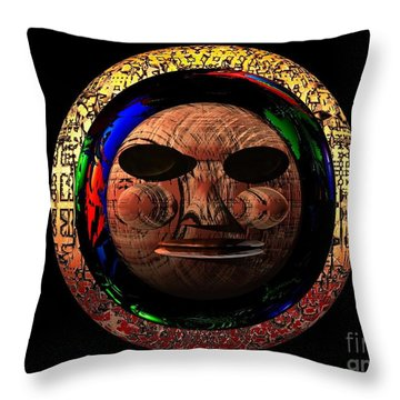 Throw Pillow featuring the digital art African Mask Series 2 by Jacqueline Lloyd