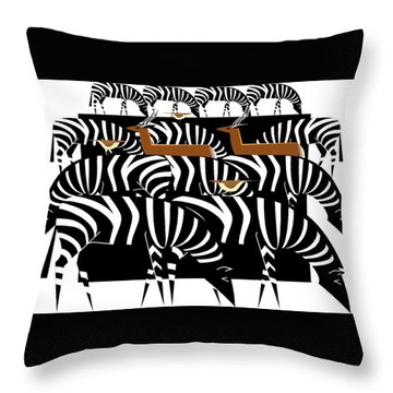 African Plains Throw Pillow