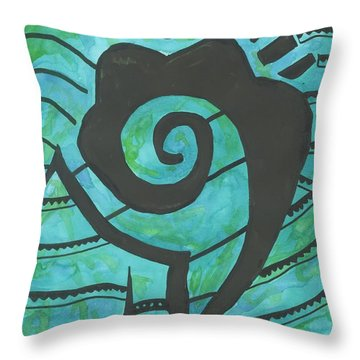 African Question Mark Throw Pillow