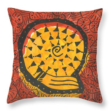 African Shell Pattern Throw Pillow