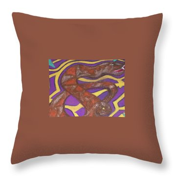 African Snake Diety Throw Pillow