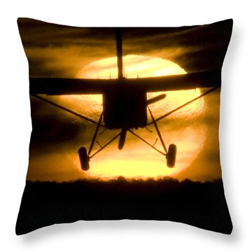 Throw Pillow featuring the photograph African Sunset by Paul Job