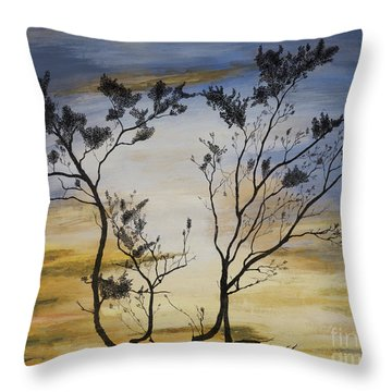 African Sunset Throw Pillow by Stuart Engel