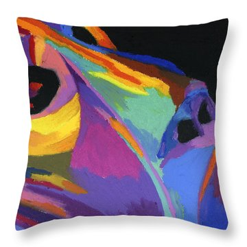 African Tribal Mask Throw Pillow by Stephen Anderson