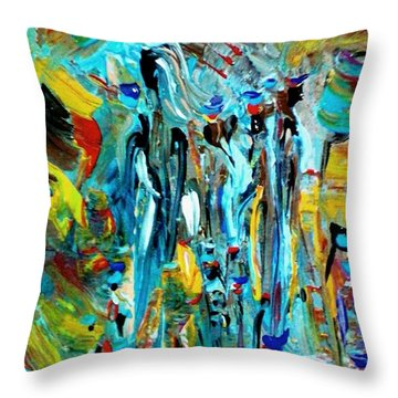 African Tribe Festivals Throw Pillow by Kelly Turner