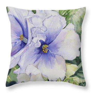 African Violet Throw Pillow by Carol Flagg