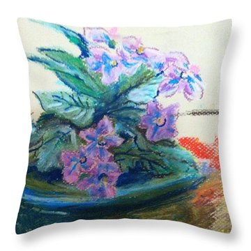African Violet Throw Pillow by Hae Kim