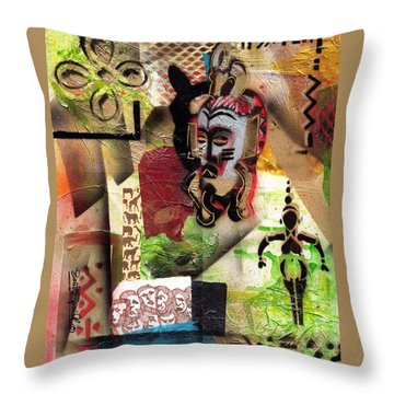 Afro Aesthetic A  Throw Pillow by Everett Spruill