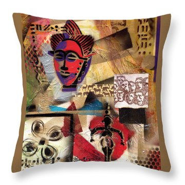 Afro Aesthetic B Throw Pillow by Everett Spruill