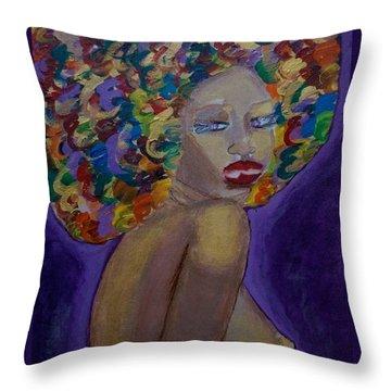 Afro-chic Throw Pillow by Apanaki Temitayo M