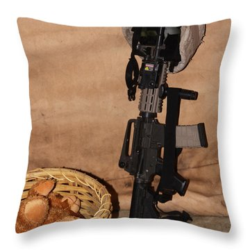 After A Hard Day In Combat Throw Pillow by Shoal Hollingsworth