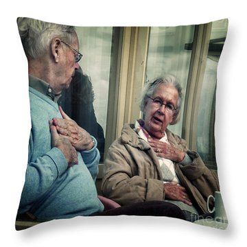 Throw Pillow featuring the photograph After All These Years... by Michel Verhoef