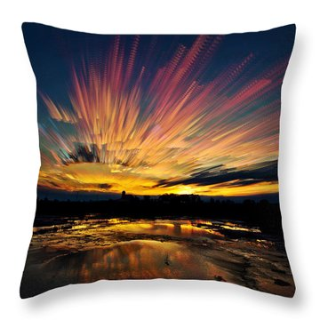 After Burn Throw Pillow
