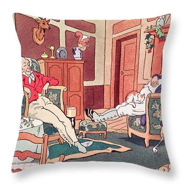 After Christmas Lunch Throw Pillow by Anonymous