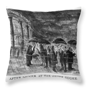 After Dinner At The White House Throw Pillow