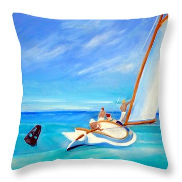 After Hopper- Sailing Throw Pillow