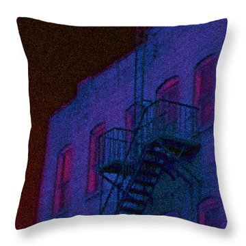 Throw Pillow featuring the photograph after hours glow -Seurat Style by Denise Beverly