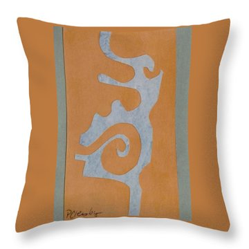 Swirl  Throw Pillow by Patricia Cleasby