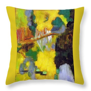 Throw Pillow featuring the painting after Paul Serusier by Jodie Marie Anne Richardson Traugott          aka jm-ART