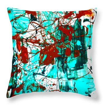 After Pollock Throw Pillow by Genevieve Esson