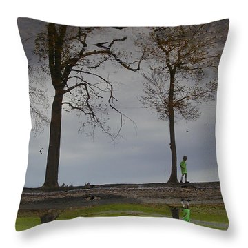 After Soccer By The Pond Throw Pillow