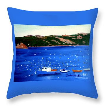 After The Catch Throw Pillow by Barbara Griffin