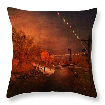 After The Fair Throw Pillow by Kylie Sabra