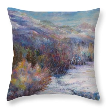 After The First Thaw Throw Pillow