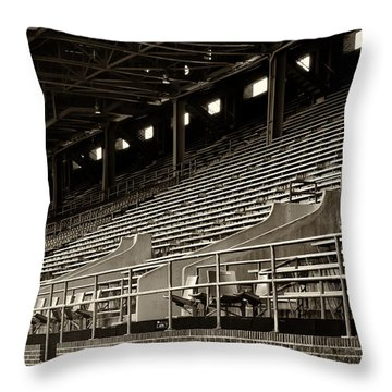 After The Game - Franklin Field Philadelphia Throw Pillow by Bill Cannon
