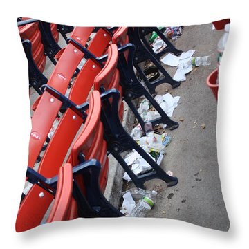 After The Game Throw Pillow by Greg DeBeck
