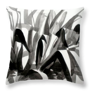 After The Iris Blooms Have Fallen Throw Pillow by Kip DeVore