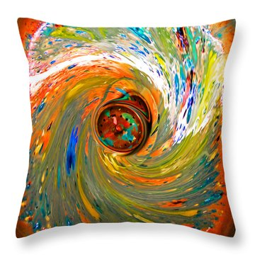 After The Masterpiece Throw Pillow by Barbara McMahon