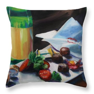 After The Party Throw Pillow by Donna Tuten