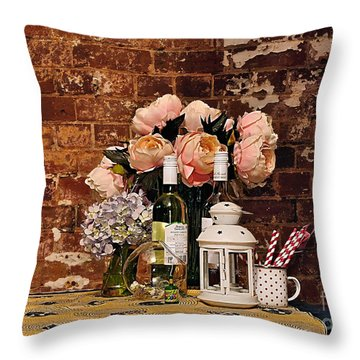 After The Party Throw Pillow by Kaye Menner