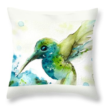 After The Rain Throw Pillow by Dawn Derman