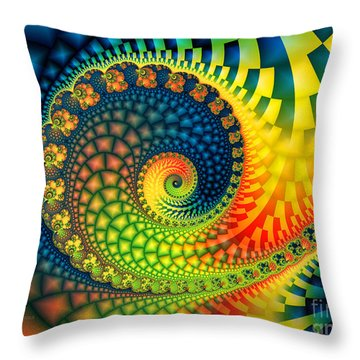 After The Rain-fractal Art Throw Pillow