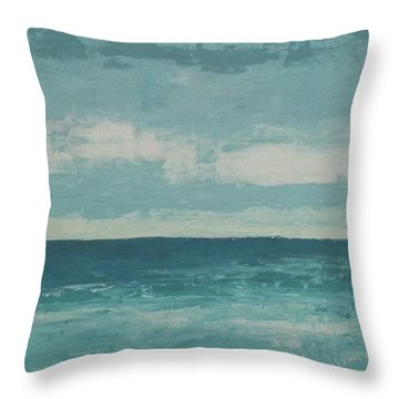 After The Rain Throw Pillow by Gail Kent
