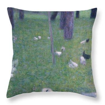 After The Rain Throw Pillow by Gustav Klimt
