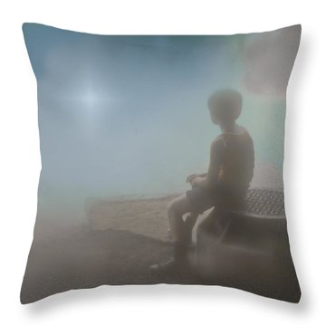 After The Rain Throw Pillow by Kellice Swaggerty