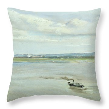 After The Rain Throw Pillow by Max Liebermann