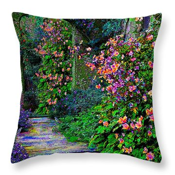 After The Rain Throw Pillow by Michele Avanti