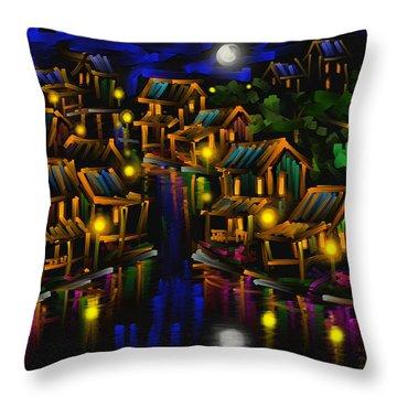 After The Rain - Scratch Art Series - #25 Throw Pillow by Steven Lebron Langston
