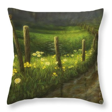 After The Rain Throw Pillow by Veikko Suikkanen