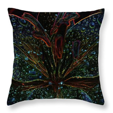 After The Rain With An Added Glow Throw Pillow by Teri Schuster