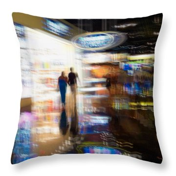 Throw Pillow featuring the photograph After The Show by Alex Lapidus