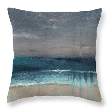 After The Storm- Abstract Beach Landscape Throw Pillow