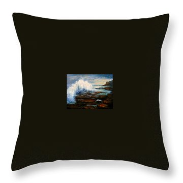 Throw Pillow featuring the painting After The Storm by Gail Kirtz