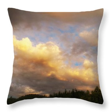 After The Storm -  Lake Arrowhead Throw Pillow by Glenn McCarthy Art and Photography