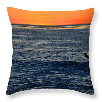 After The Sunset Glow In La Jolla Throw Pillow by Sharon Soberon